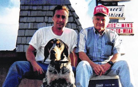 Charlie Lovejoy, left, and his father, Bud, right, at the store on West Main Street. Charlie took over the store in the late 1990s.