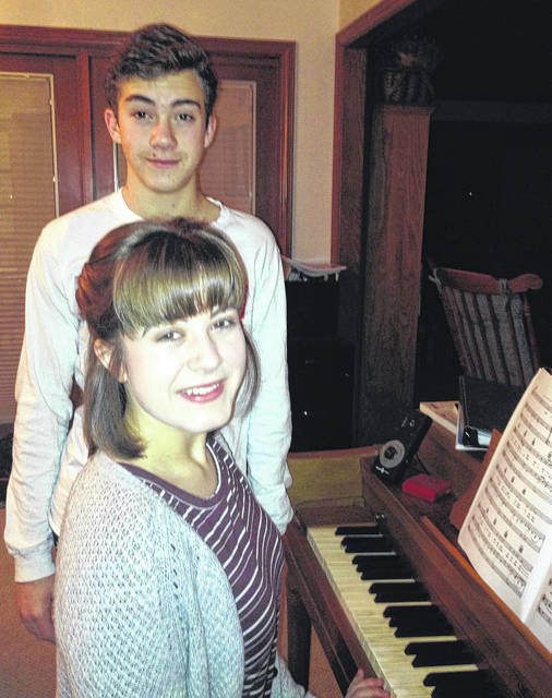 London siblings Ruth, front, and Luke Peart will be among two dozen local youths who are scheduled to participate in this weekend's Young Artist Showcase, Madison County Arts Council's longest-running program. The free event will be taking place at 3 p.m. Sunday, Jan. 28 at London's St. Patrick Church.