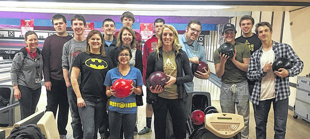 Members of Business Professionals of America, a student organization for students enrolled in Tolles' satellite programming housed within Dublin City Schools, hosted a Bowl-a-Thon for Dublin Special Olympics. Front row from left are: Amanda Blackburn, Adamary Gutierrez, Lisa Dale-Press and Chelsea Burns; back row: Kate Newman, Alex Zimmerman, Nick Matter, Drew Heck, Micheal Scott, Matt Vick, Trevor Woods, Larry Mastella, Preston Streator and Chris Dowling.