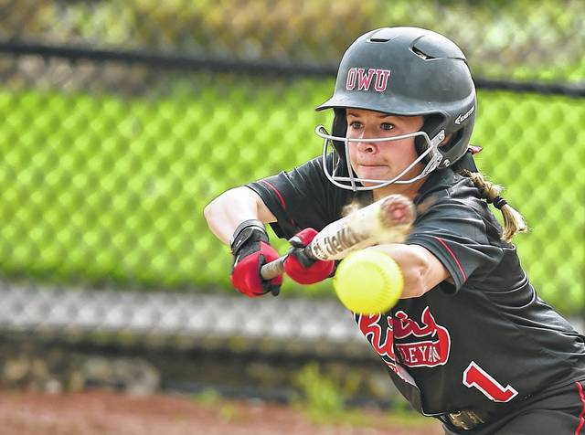 Ohio Wesleyan's Ashley Day, a Jonathan Alder graduate, was a second team All-NCAC selection this spring.