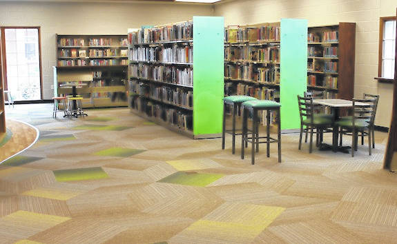 The area that was once the nonfiction section received an update at the Plain City Public Library. New shelving and a more open floor plan is in its place.