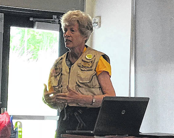 Former Ohio First Lady Hope Taft encourages greater protection for Ohio's Wild & Scenic Rivers during a special ceremony at Battelle-Darby Metro Park on June 14. The ceremony marked the 50th anniversary of the state's Scenic Rivers Act.