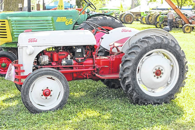 One of a couple Ford tractors from the late 1940s, early ′50s models sits at Pastime Park in Plain City. Ford tractors are among the rare and unusual featured machines in the 2018 Steam Threshers show.