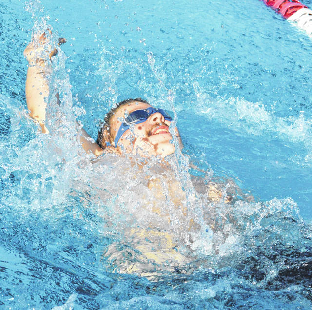 The Madison County Marlins recently hosted a home swim meet at the London Pool, among those competing for the Marlins was Isaac Tipton in the 100-meter backstroke.